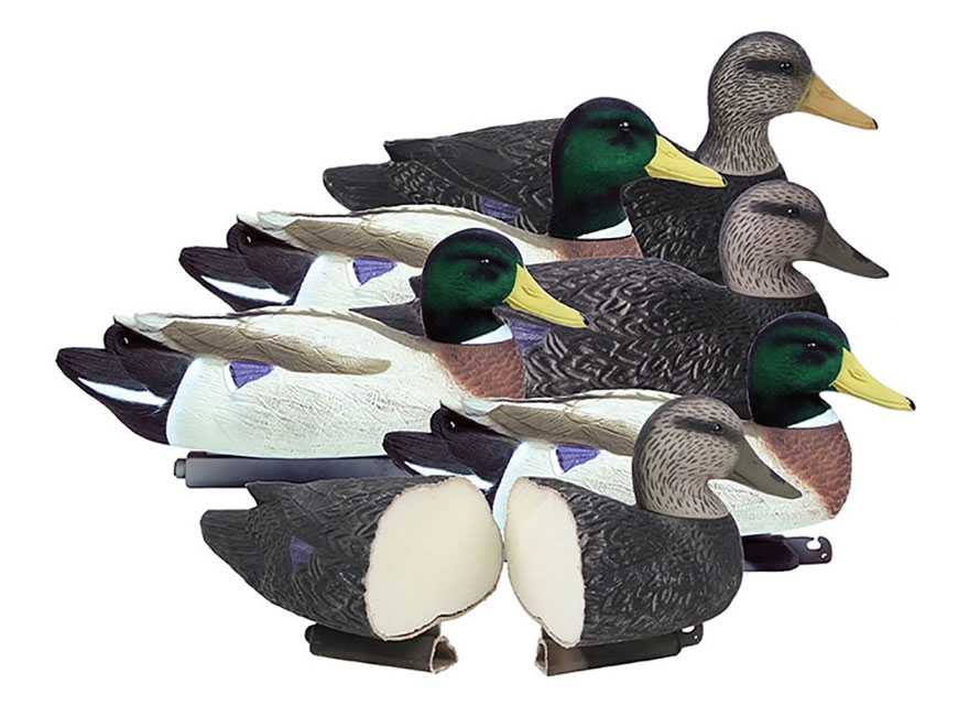 Higdon Battleship Powers' Pack Foam Filled Duck Decoy Polymer Pack of 6