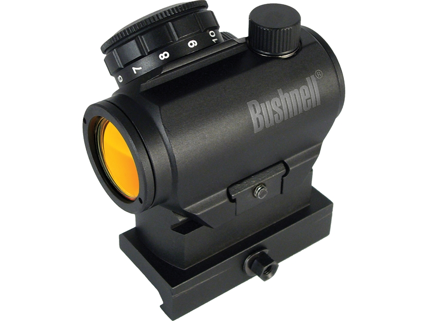 Bushnell AR Optics TRS-25 Red Dot Sight 1x 25mm 3 MOA Dot with Integral Hi-Rise Weaver-...