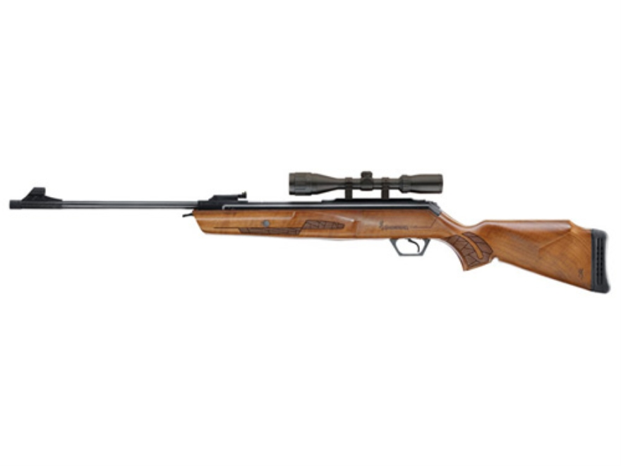 Browning Gold Air Rifle 177 Caliber Wood Stock Blue Barrel with Airgun Scope 3-9x40mm M...