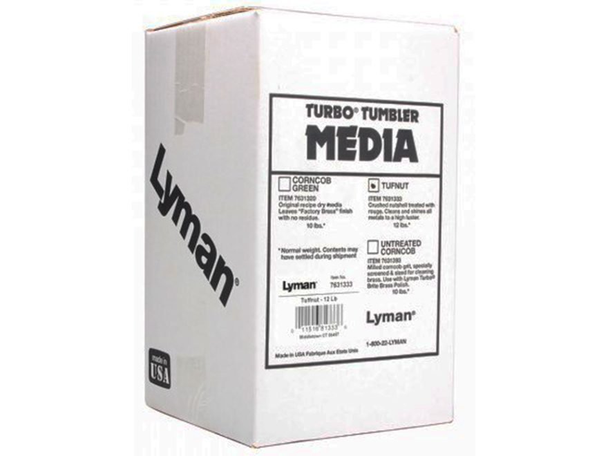 Lyman Turbo Brass Cleaning Media Treated Tufnut (Walnut) Box