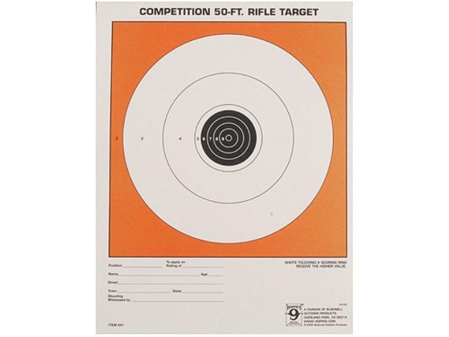 Hoppe's Single Bull Target 50' Junior Rifle Package of 20