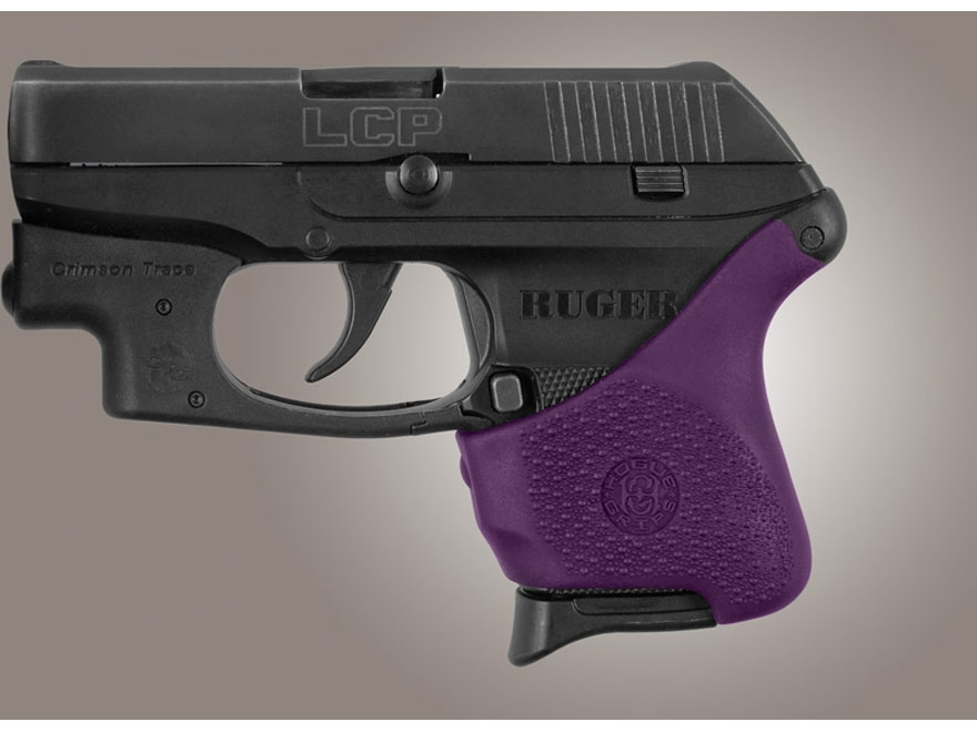 Hogue Handall Slip-On Grip Sleeve for Ruger LCP with Crimson Trace Button Rubber