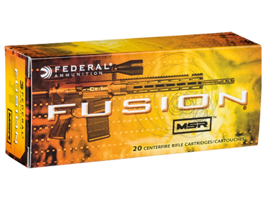 Federal Fusion Modern Sporting Rifle Ammunition 6.5 Grendel 120 Grain Spitzer Boat Tail...