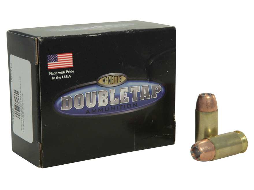 Doubletap Ammunition 450 Short Magnum Cartridge 185 Grain Bonded Defense Jacketed Hollo...