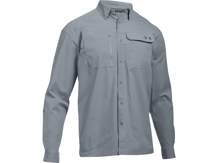Under Armour Men's UA Fish Hunter Button-Up Shirt Long Sleeve Nylon