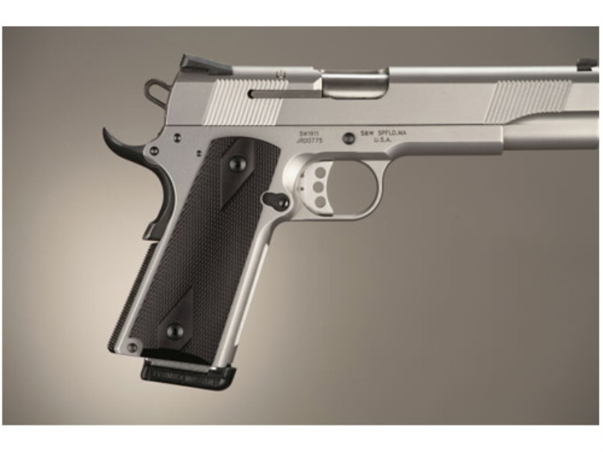 Hogue Extreme Series Grips 1911 Government, Commander Ambidextrous Safety Cut Checkered...