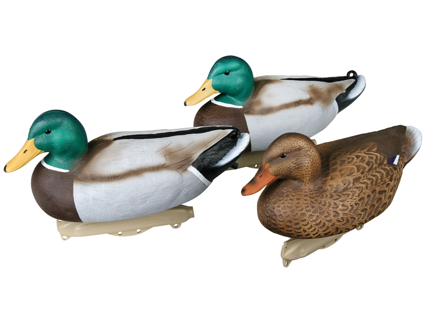Flambeau Storm Front Weighted Keel Mallard Duck Decoy Pack of 12