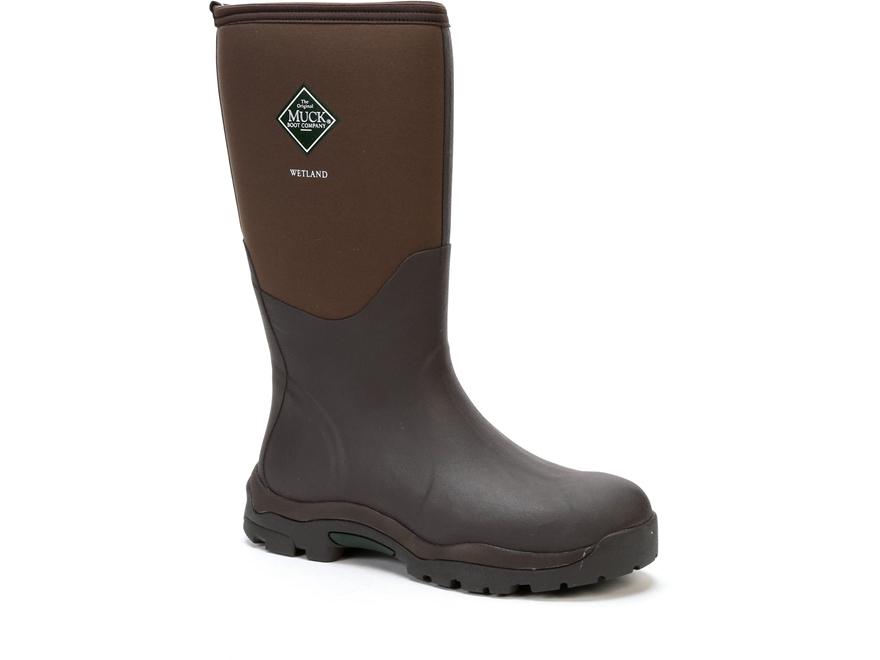 "Muck Wetland 16"" Waterproof 5mm Insulated Hunting Boots Neoprene/Rubber Men's"