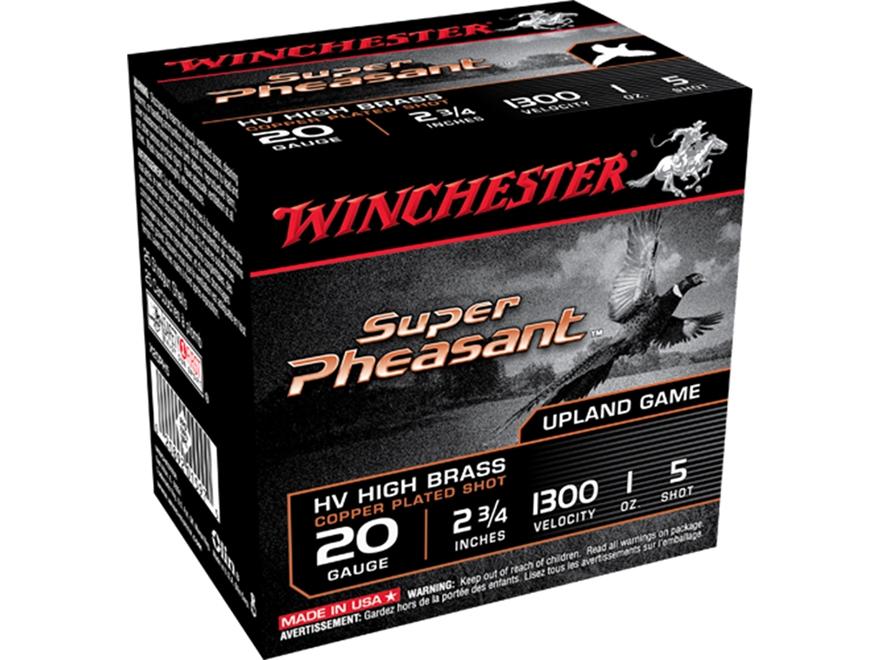 "Winchester Super-X Super Pheasant Ammunition 20 Gauge 2-3/4"" 1 oz #5 Copper Plated Shot..."