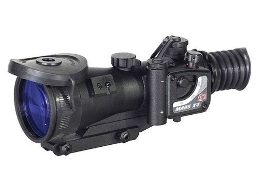 ATN MARS4x-4 4th Generation Night Vision Rifle Scope 4x 74mm Illuminated Red Mil-Dot Re...