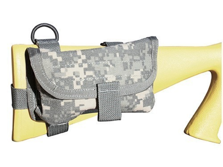 Spec.-Ops. Ready-Fire Mode Buttstock Ammunition Carrier Shotgun Nylon ACU Camo