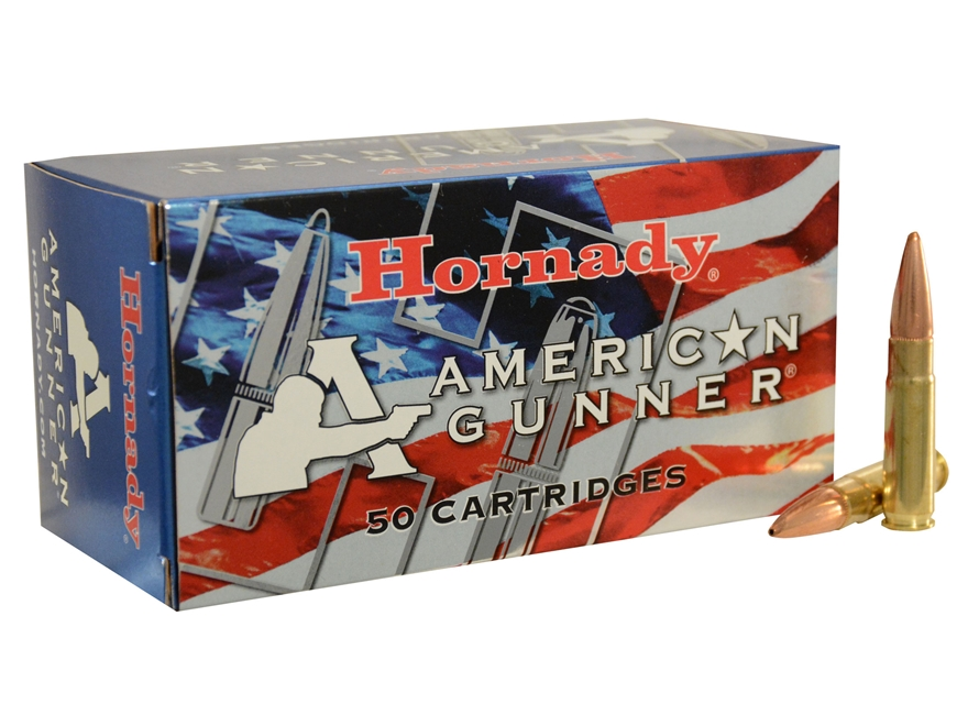 Hornady American Gunner Ammunition 300 AAC Blackout 125 Grain Hollow Point Boat Tail Bo...