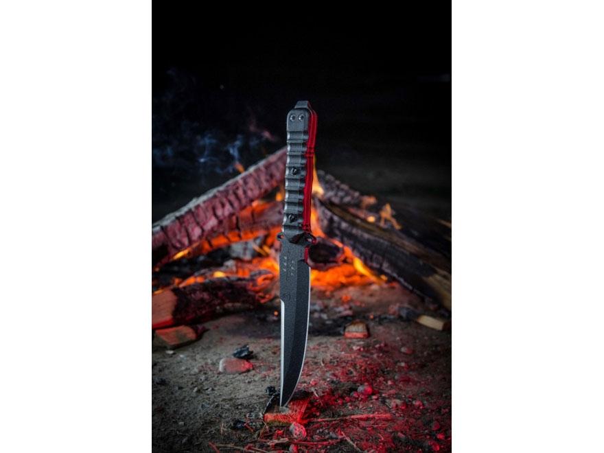 """TOPS Zero Dark 30 Fixed Blade Tactical Knife 6"""" Drop Point 1095 Steel Blade Micarta Han..."""