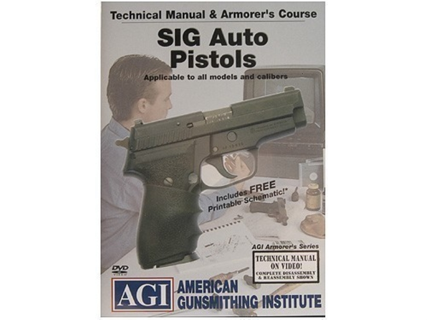 "American Gunsmithing Institute (AGI) Technical Manual & Armorer's Course Video ""Sig Sau..."