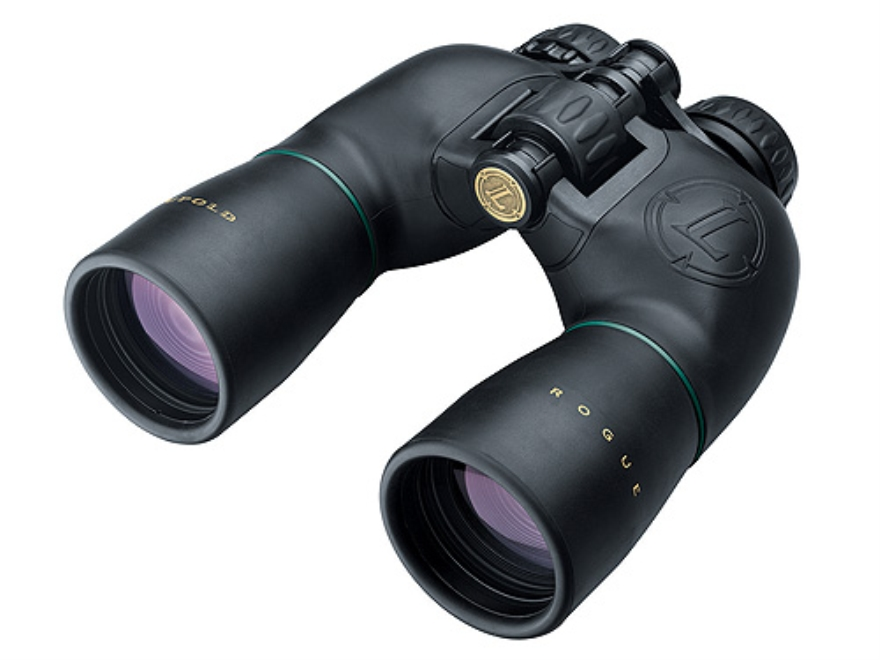 Leupold Green Ring Rogue Binocular 8x50mm Porro Prism Armored Black