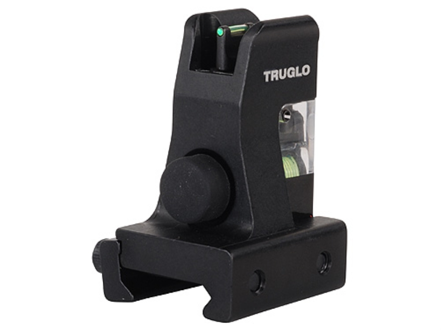 TRUGLO TFO Detachable Front Sight AR-15, LR-308 Gas Block Height Steel Fiber Optic Gree...