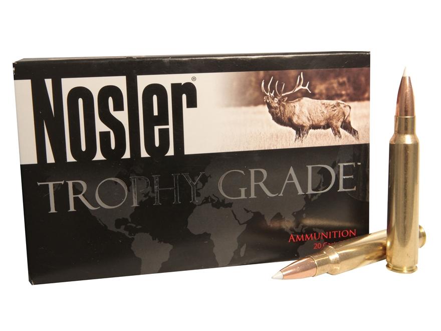Nosler Trophy Grade Ammunition 338 Remington Ultra Magnum 300 Grain AccuBond Long Range...