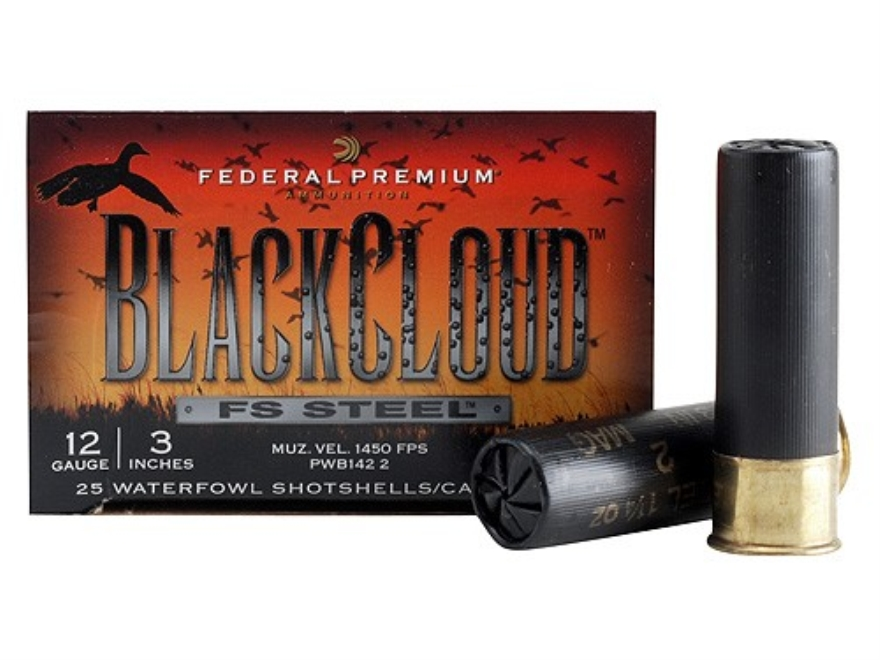 "Federal Premium Black Cloud Ammunition 12 Gauge 3"" 1-1/4 oz #2 Non-Toxic FlightStopper ..."
