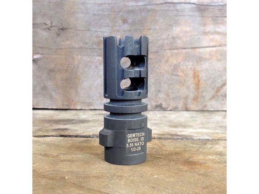 "Gemtech Quickmount Muzzle Brake Suppressor Mount AR-15 1/2""-28 Thread Steel Matte"
