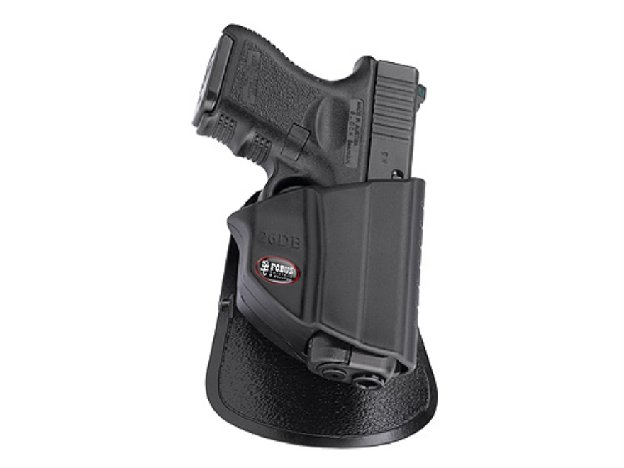 Fobus Thumb Lever Level 2 Roto-Paddle and Belt Holster Ambidextrous Glock 26,27,33 Poly...