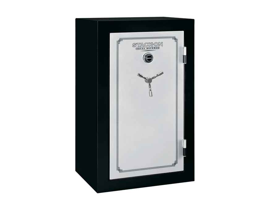 Stack-On Total Defense Fire-Resistant 36-Gun Safe with Combination Lock Matte Black and...