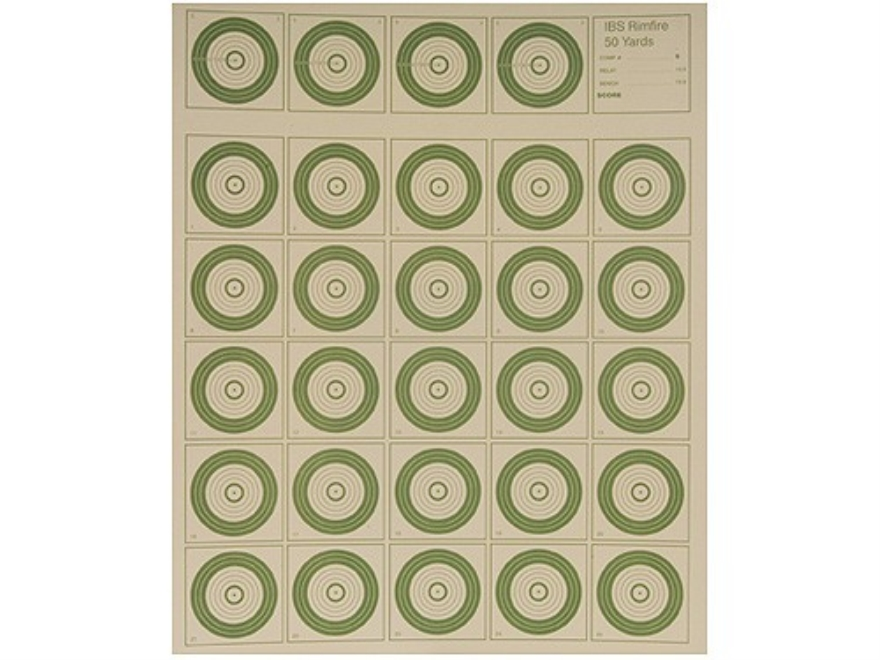 National Target International Bench Rest Shooters Target IBS 50 YD Rimfire Paper Pack o...