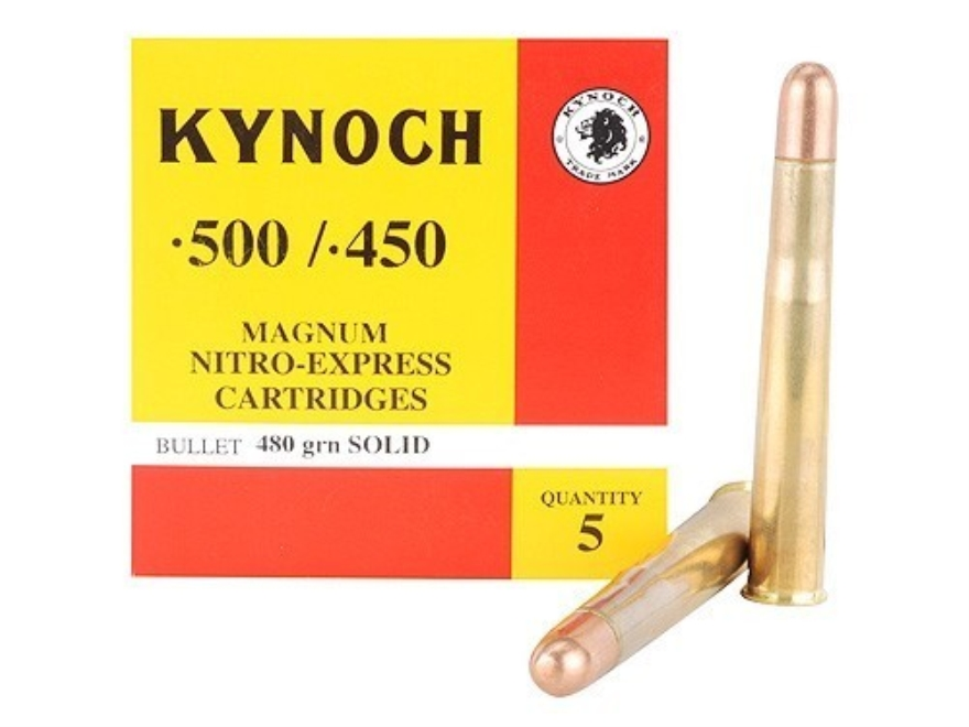 Kynoch Ammunition 500-450 Nitro Express 480 Grain Woodleigh Welded Core Solid Box of 5