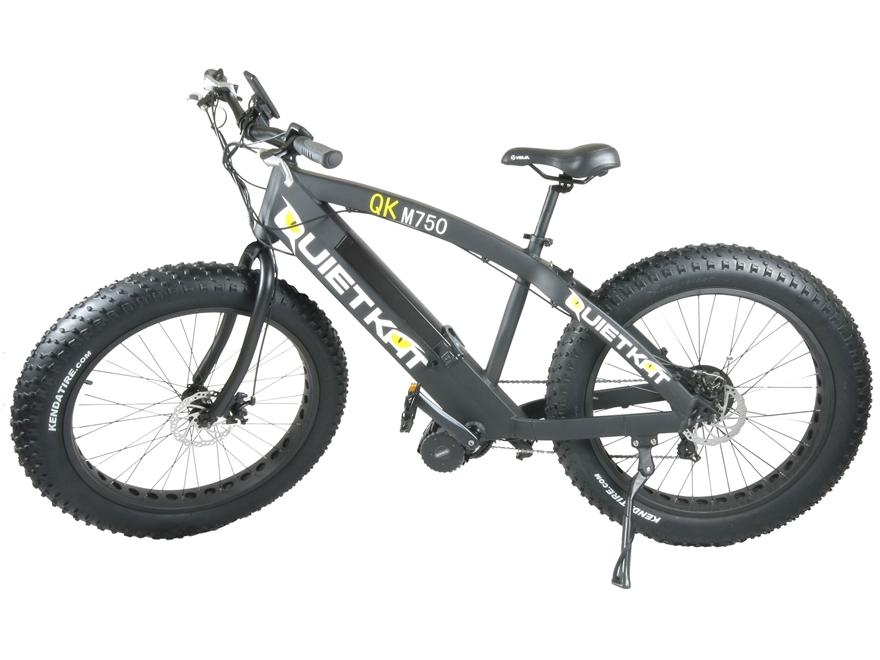 QuietKat 750 Watt Motorized FatKat Bike Black