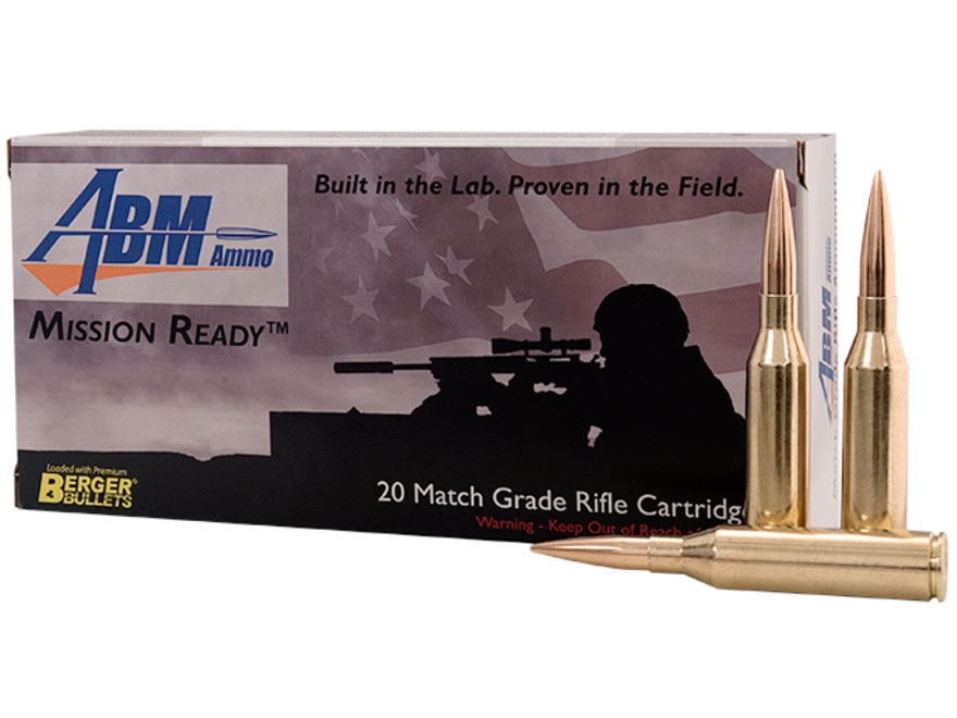 ABM Mission Ready-Tactical Ammunition 300 Norma Magnum 215 Grain Berger Match Hybrid Bo...