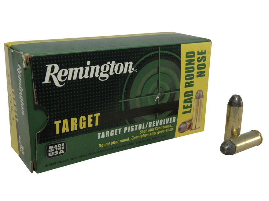 Remington Target Ammunition 45 Colt (Long Colt) 250 Grain Lead Round Nose Box of 50