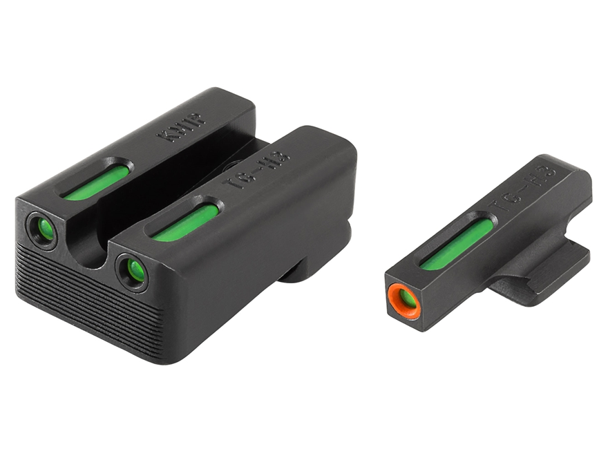 TRUGLO TFX Pro Sight Set 1911 Kimber Cut Tritium / Fiber Optic Green with Orange Front ...