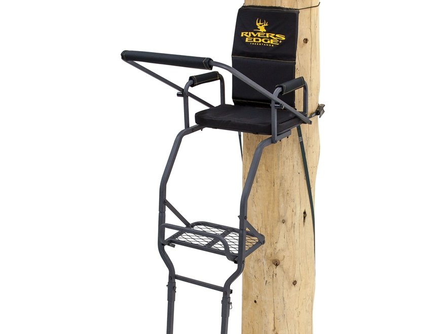 Rivers Edge Deluxe Single Ladder Treestand Steel Black