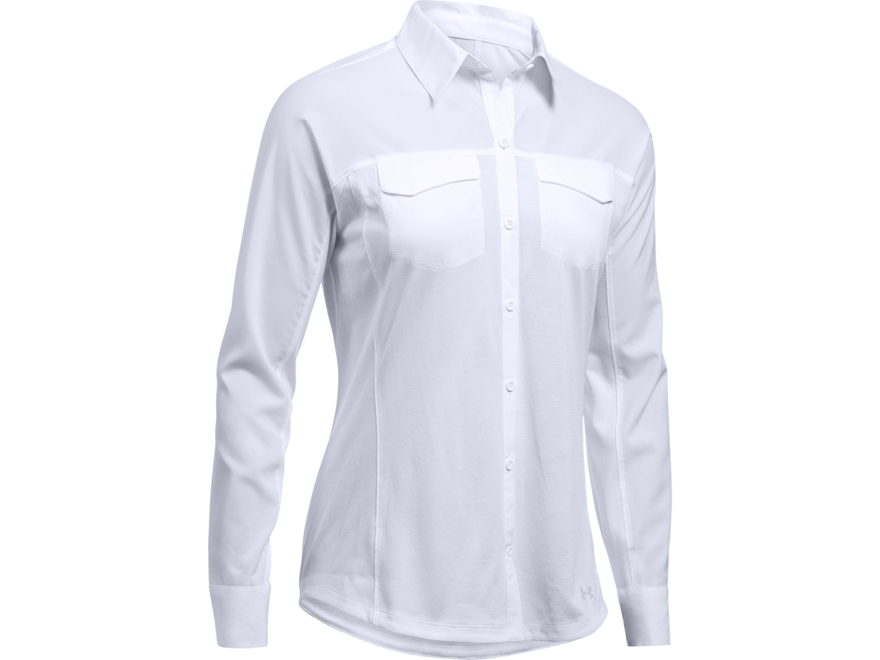 Under Armour Women's UA Tide Chaser Hybrid Button-Up Shirt Long Sleeve Polyester