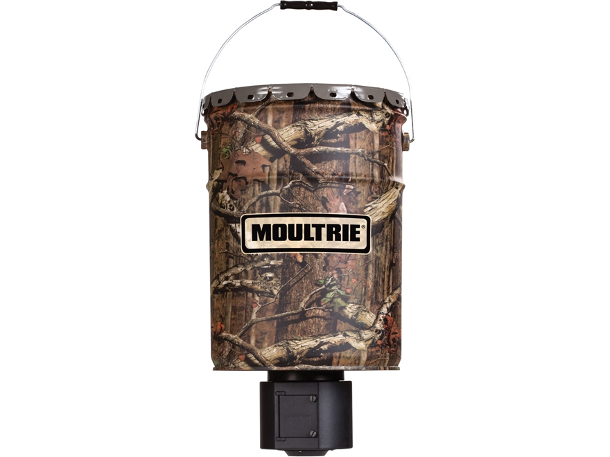 Moultrie Quiet Feeder Hanging Game Feeder 6.5 Gallon Mossy Oak Break Up Infinity Camo