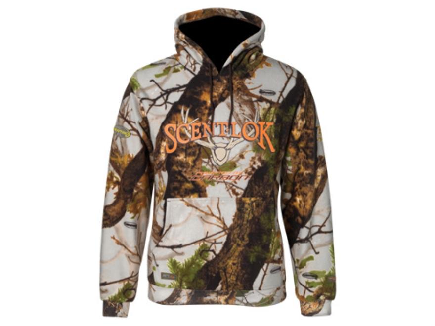 Scent-Lok Men's Logo Hooded Sweatshirt Polyester Vertigo Gray Camo Large 42-44