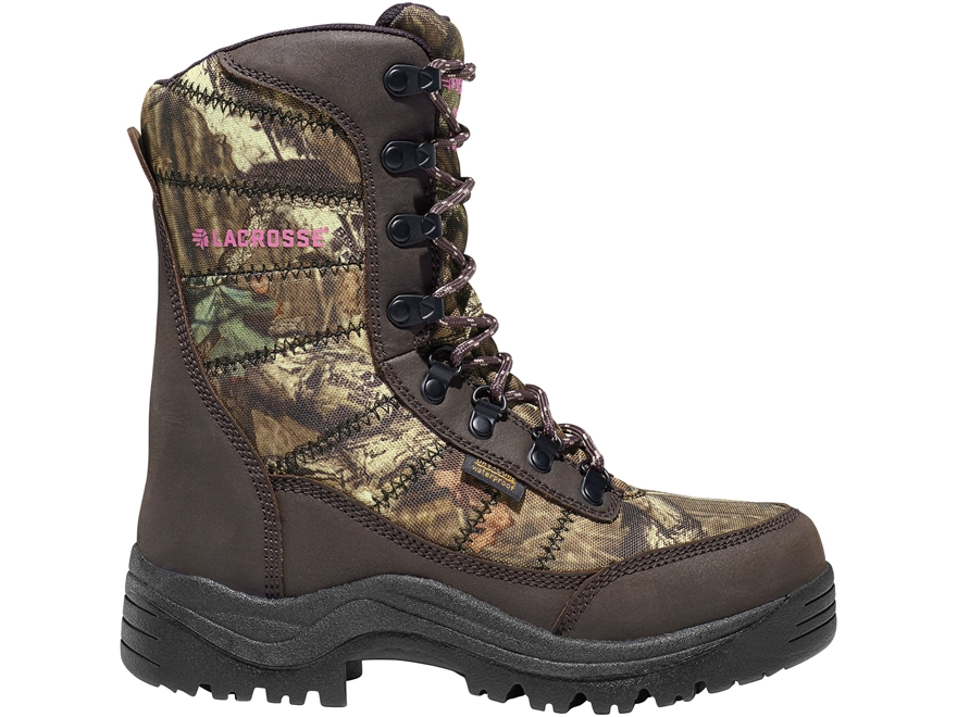 "LaCrosse Silencer 8"" Waterproof 800 Gram Insulated Hunting Boots Leather/Nylon Mossy Oa..."