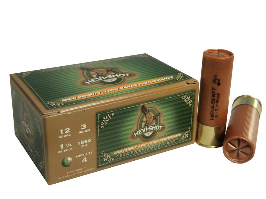"Hevi-Shot Duck Waterfowl Ammunition 12 Gauge 3"" 1-1/4 oz #4 Non-Toxic Shot"