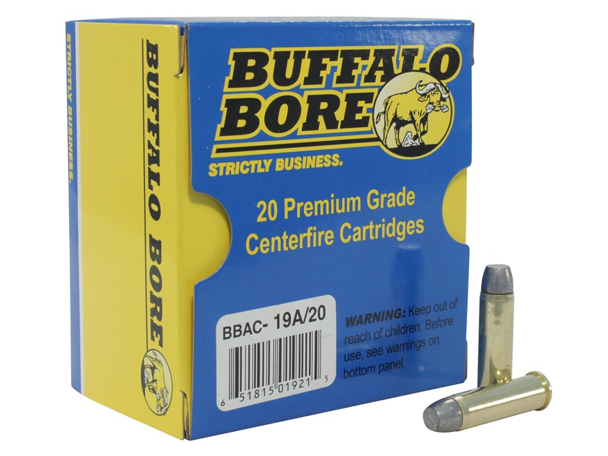 Buffalo Bore Ammunition Outdoorsman 357 Magnum 180 Grain Lead Flat Nose Gas Check Box o...