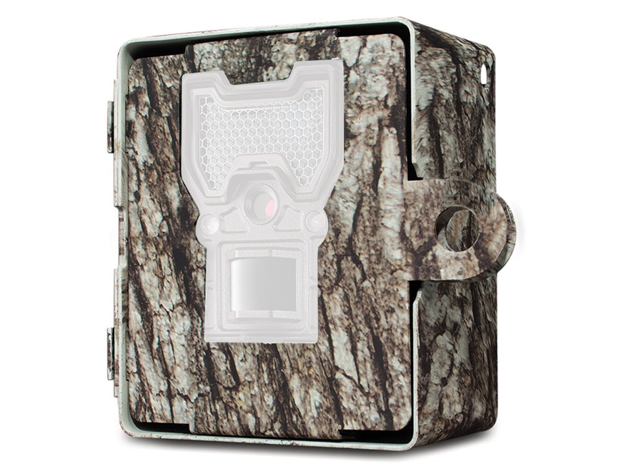 Bushnell Trophy Cam Wireless Game Camera Security Box Steel Tree Bark Camo