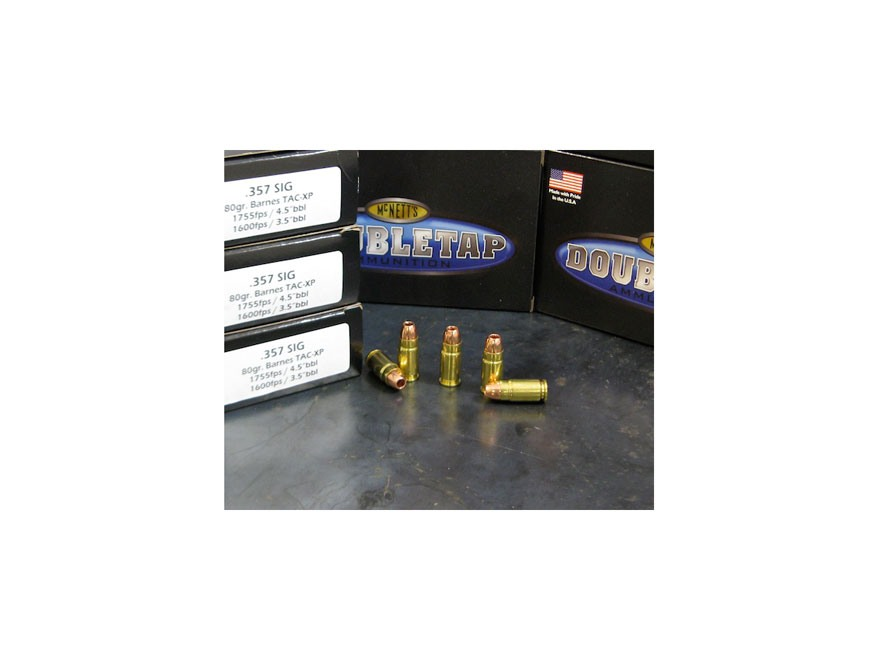 Doubletap Ammunition 357 Sig 80 Grain Barnes TAC-XP Lead-Free Box of 20
