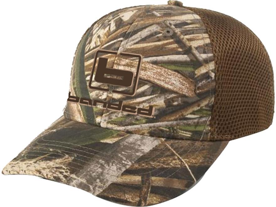 Banded Logo Trucker Cap Polyester