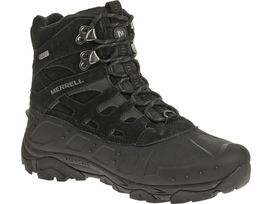 """Merrell Moab Polar 6"""" Waterproof 400 Gram Insulated Hiking Boots Leather/Synthetic"""