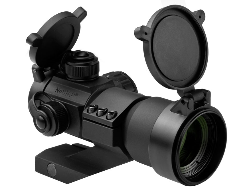 NcStar Tactical Red Dot Sight 30mm Tube 3 MOA Dot Red, Green and Blue with Cantilever W...