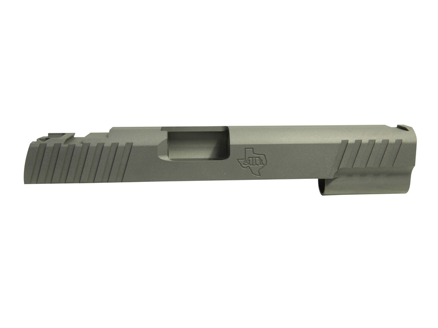 STI Trojan Slide 1911 Government 45 ACP STI Front Sight Cut and LPA Rear Cut Steel in t...