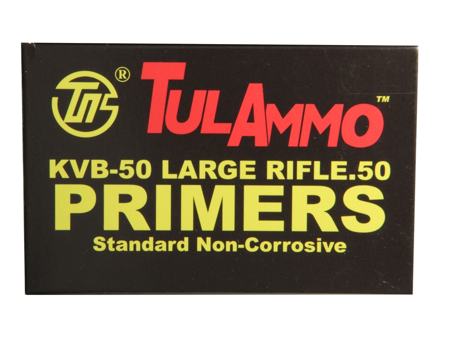 TulAmmo 50 BMG Primers Case of 1250 (5 Trays of 250)