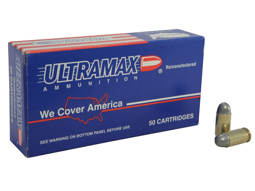Ultramax Remanufactured Ammunition 45 ACP 230 Grain Lead Round Nose Box of 50