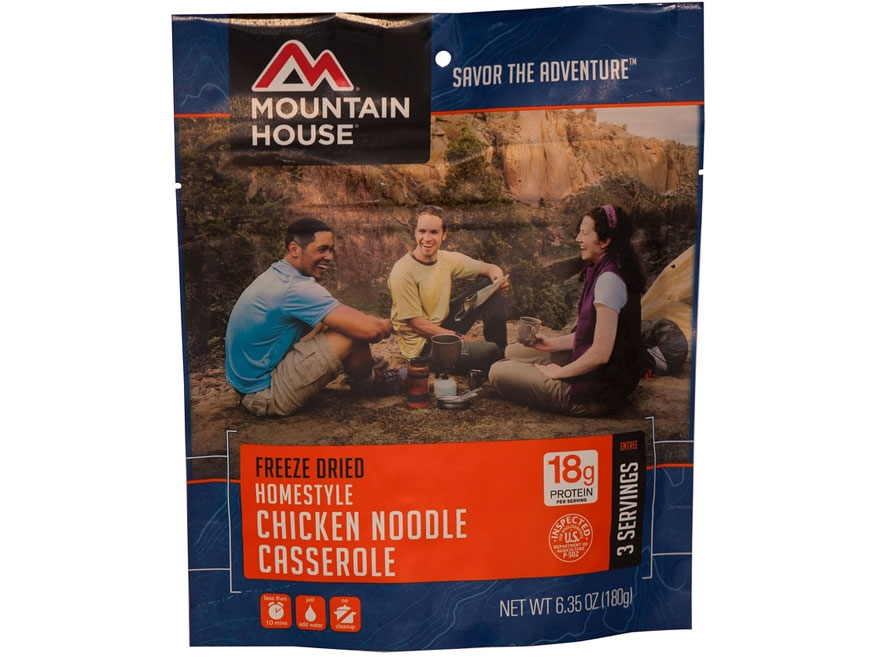 Mountain House Homestyle Chicken Noodle Casserole Freeze Dried Food 6.35 oz