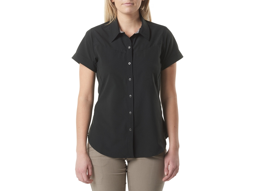 5.11 Women's Freedom Flex Button-Up Shirt Short Sleeve Polyester