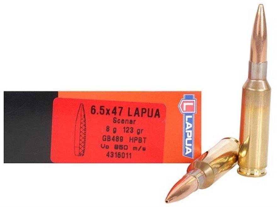 Lapua Scenar Ammunition 6.5x47 Lapua 123 Grain Hollow Point Boat Tail Box of 20