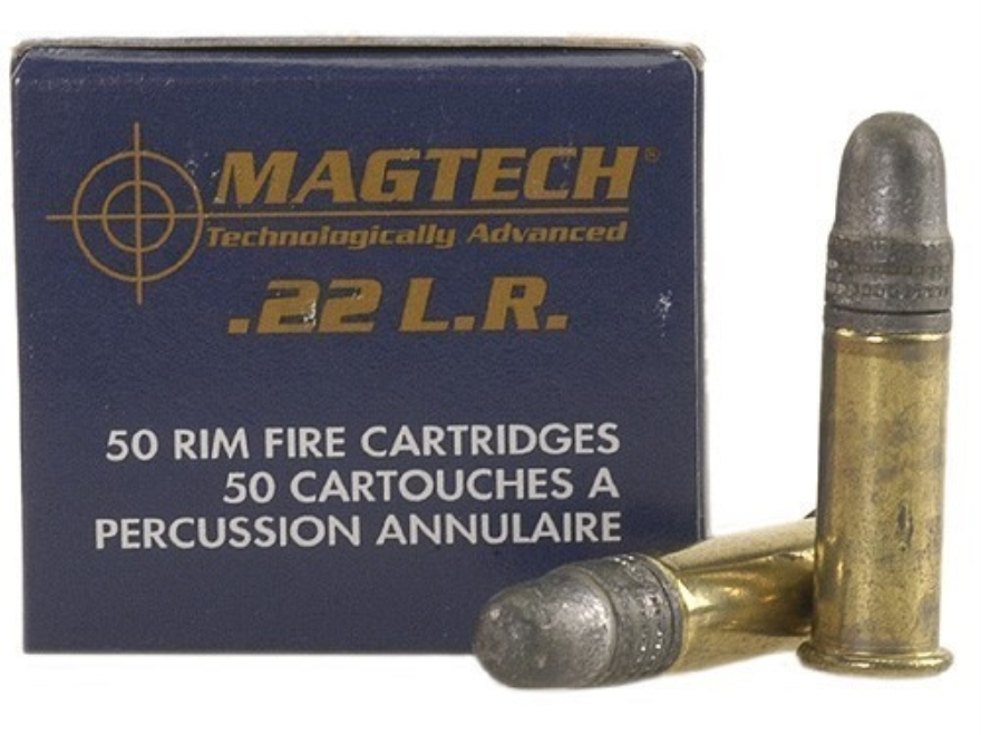 Magtech Standard Velocity Ammunition 22 Long Rifle 40 Grain Lead Round Nose Box of 50